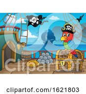 Pirate Parrot On A Ship Deck