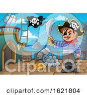 Pirate On A Ship Deck