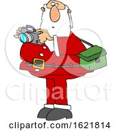 Cartoon Santa Taking Christmas Pictures