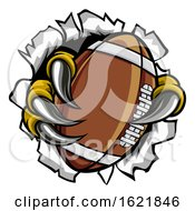 Poster, Art Print Of Football Ball Eagle Claw Talons Tearing Background