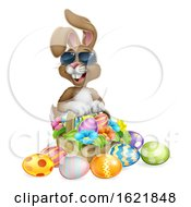 Easter Bunny Cool Rabbit Eggs Hunt Basket Cartoon
