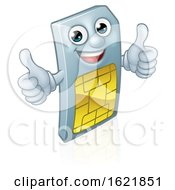 Mobile Phone Sim Card Mascot Cartoon