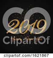 Glitter Happy New Year Design