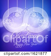Decorative Christmas And New Year Background by KJ Pargeter