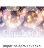 December 15th, 2018: Confetti And Streamers On Bokeh Lights Background by KJ Pargeter