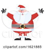 Closeup Of Santa Claus Welcoming With Open Arms