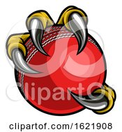 Eagle Bird Monster Claw Holding Cricket Ball by AtStockIllustration