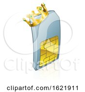 Sim Card King Mobile Phone Cartoon Character