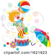 Clown Performing With A Ball