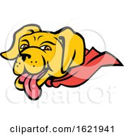 Super Yellow Labrador Retriever Wearing Cape Mascot