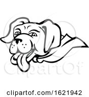 Labrador Retriever Dog Wearing Cape Mascot