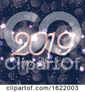 Happy New Year Background With Bokeh Lights