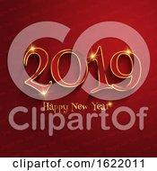 Typography Happy New Year Design