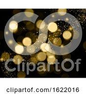 Poster, Art Print Of Christmas Background Of Bokeh Lights Stars And Sparkle Lights
