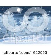3D Snowy Tree Landscape