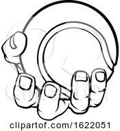 Hand Holding Tennis Ball