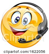 Poster, Art Print Of Call Center Emoji Wearing A Headset