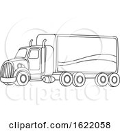 Black And White Big Rig Truck