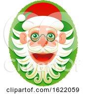 Christmas Hipster Santa Claus Face