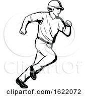 Black And White Baseball Player