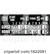 Black And White Baseball Score Board