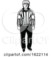 Black And White Hockey Referee