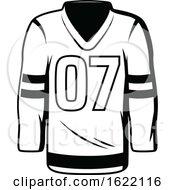 Black And White Hockey Jersey