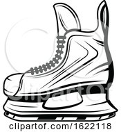 Black And White Hockey Ice Skate