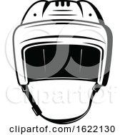Black And White Hockey Mask