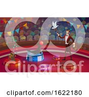 Poster, Art Print Of Performing Circus Ringmaster With Animals