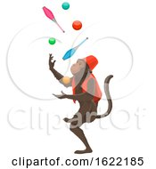 Juggling Circus Monkey by Vector Tradition SM