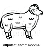 Black And White Sheep Mutton Icon