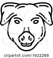 Black And White Pig Pork Icon