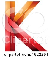 Red And Orange 3d Geometric Letter K