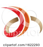 Red And Beige 3d Curly Letters D And H