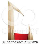 Red And Beige Arrow Shaped Letter C