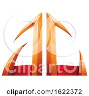 Red And Orange Arrow Shaped Letters A And C