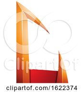 Red And Orange Arrow Shaped Letter C