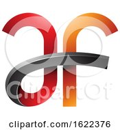 Red And Orange Bold Curvy Letters A And F