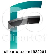 Persian Green And Black Letter F