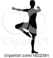 Dancing Ballet Dancer Silhouette by AtStockIllustration