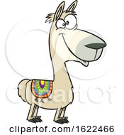 Cartoon Happy Llama