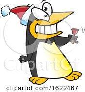 Cartoon Christmas Penguin Bell Ringer