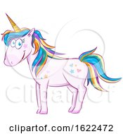 Cute Rainbow Unicorn by Domenico Condello