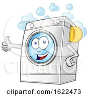 Happy Washing Machine Mascot Holding A Thumb Up