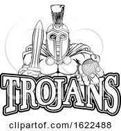 Spartan Trojan Golf Sports Mascot