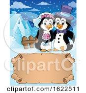 Poster, Art Print Of Penguin Wedding Couple