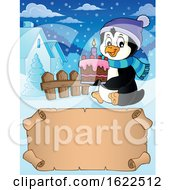 Poster, Art Print Of Penguin Holding A Cake