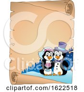Poster, Art Print Of Penguin Wedding Border