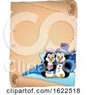 Poster, Art Print Of Penguin Wedding Border